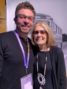 Nick Basta with Gloria Steinem