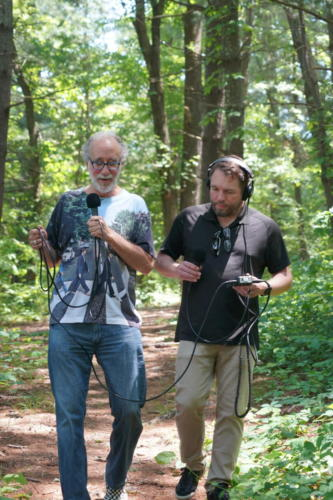 Composer BJ Leiderman and Bryan on hike in Asheville, NC
