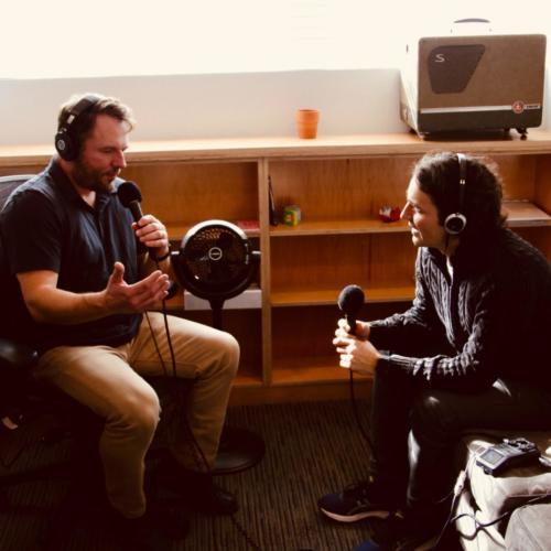 Bryan interviewing A.J. Eaton