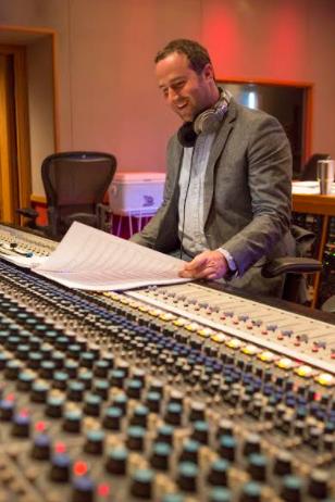 Anthony in the studio
