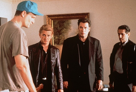 Nick directing Sean Penn and John Travolta